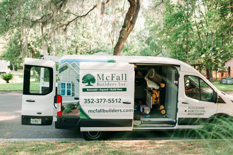McFall Builders, Inc. work van