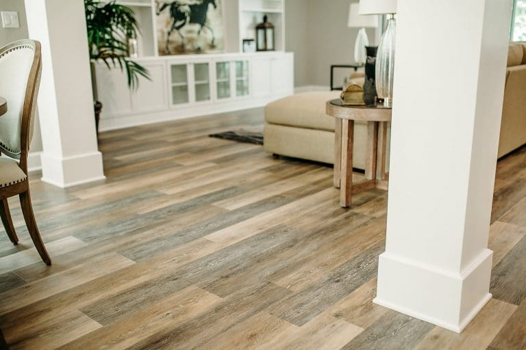 Modern flooring in a residential home