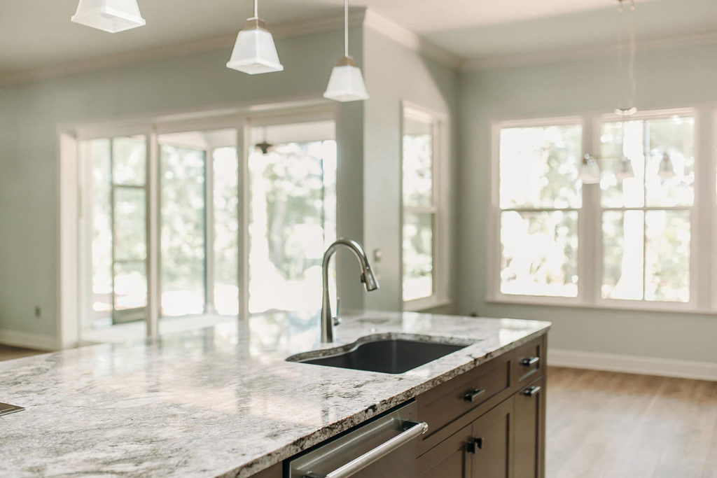 Modern kitchen with updated countertops