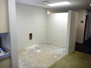 Medical office under construction for a remodel