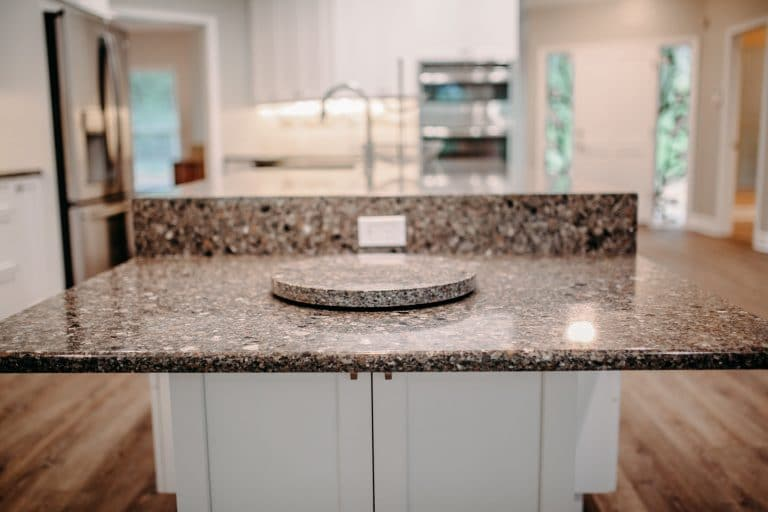 Granite kitchen countertops in a modern kitchen