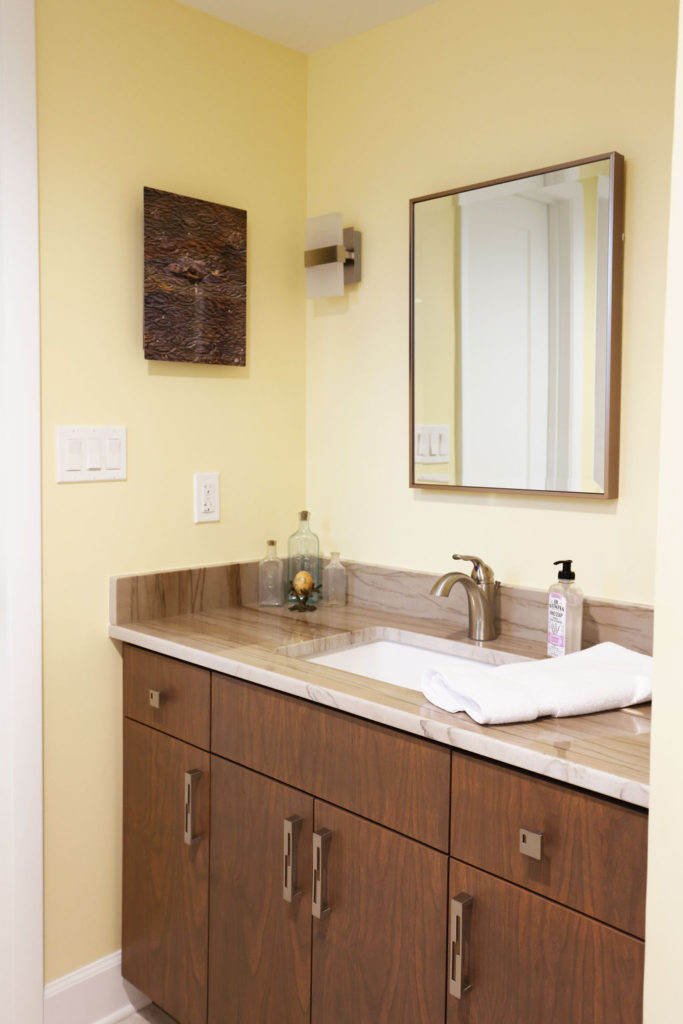 Bathroom with pale yellow wall